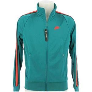 """Nike Men's """"N98 Tribute"""" Track Jacket Teal Size L"""
